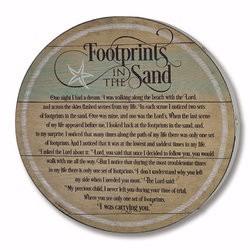 Barrel Plaque-Footprints In...