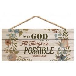 Jute Hanging Decor-With God...