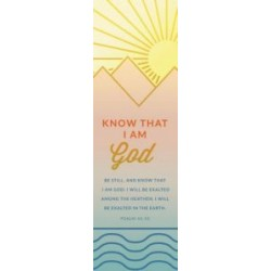 Bookmark-Be Still And Know...