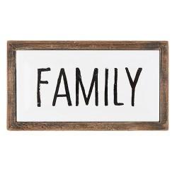 Framed Enamel Plaque-Family...