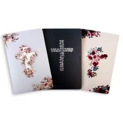 Journal-Floral Cross Design...