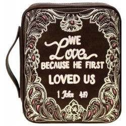 Bible Cover-We Love Because...