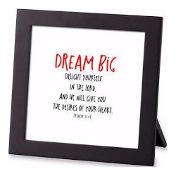 Framed Art-Dream Big (40247)