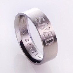 Ring-Saved By Grace (Mens)...
