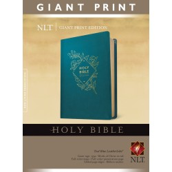 NLT Giant Print Bible-Teal...