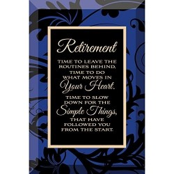 Glass Plaque-Retirement (6...