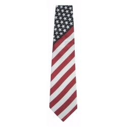 Tie-American Flag-Polyester