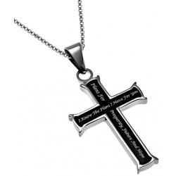 Necklace-Black Cross-I Know...