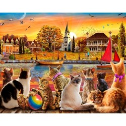 Jigsaw Puzzle-Dockside Cats...