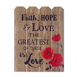 Rustic Pallet Art-Faith...