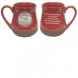 Mug-Pottery-Teacher Prayer-Red