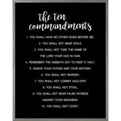 Framed Art-Ten Commandments...