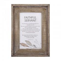 Framed Art-Faithful Servant...