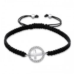 Bracelet-Circle w/Cross-925...