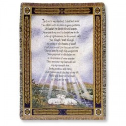 Throw-23rd Psalm-Tapestry...