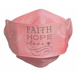 Face Mask-Faith Hope Love-Pink