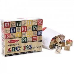 Wooden ABC-123 Blocks (50...