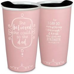 Tumbler Mug-Affirmed-She...