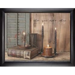 Framed Art-Let Your Light...