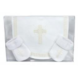Baby Gift Set-Bib/Cross...