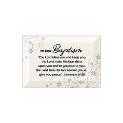 Glass Plaque-Baptism (Easel...