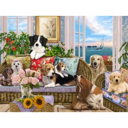 Jigsaw Puzzle-Dogs On The...
