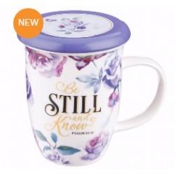 Mug w/Lid-Be Still (13 Oz)
