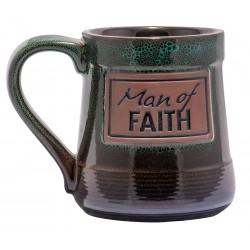 Mug-Pottery-Man Of Faith...