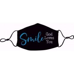 Face Mask-Smile God Loves You