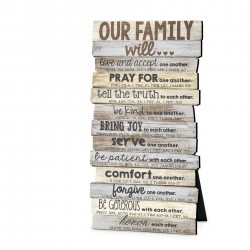 Plaque-Our Family Will (10...