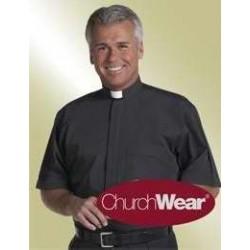 Clerical Shirt-Short Sleeve...