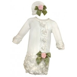 Baby Gown And Cap...