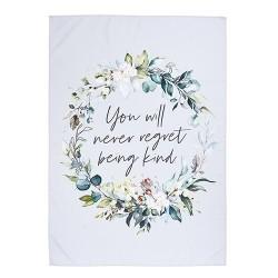 Fabric Banner-Never Regret...