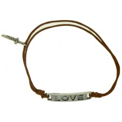 Bracelet-Light Brown Cotton...