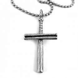 Necklace-Baseball Bat Cross...