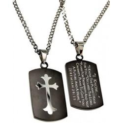 Necklace-Black Dog Tag...