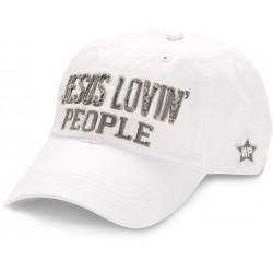 Hat-Jesus Lovin' People-White