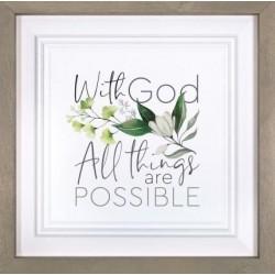 Framed Art-With God All...