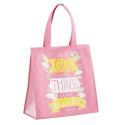 Tote Bag-Nylon-With God All...
