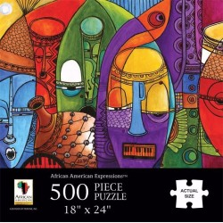Jigsaw Puzzle-Jazz Masks...